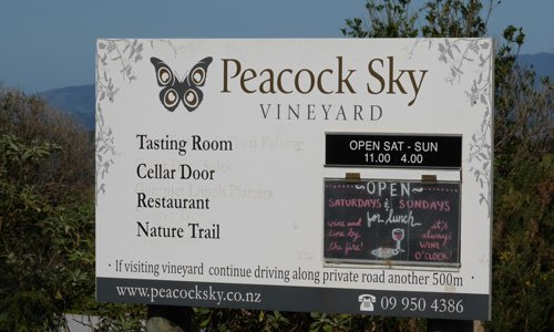 Peacock Sky - Wineries
